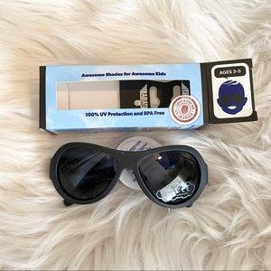 BABIATORS Aviator Black Ops Black Kids Sunglasses